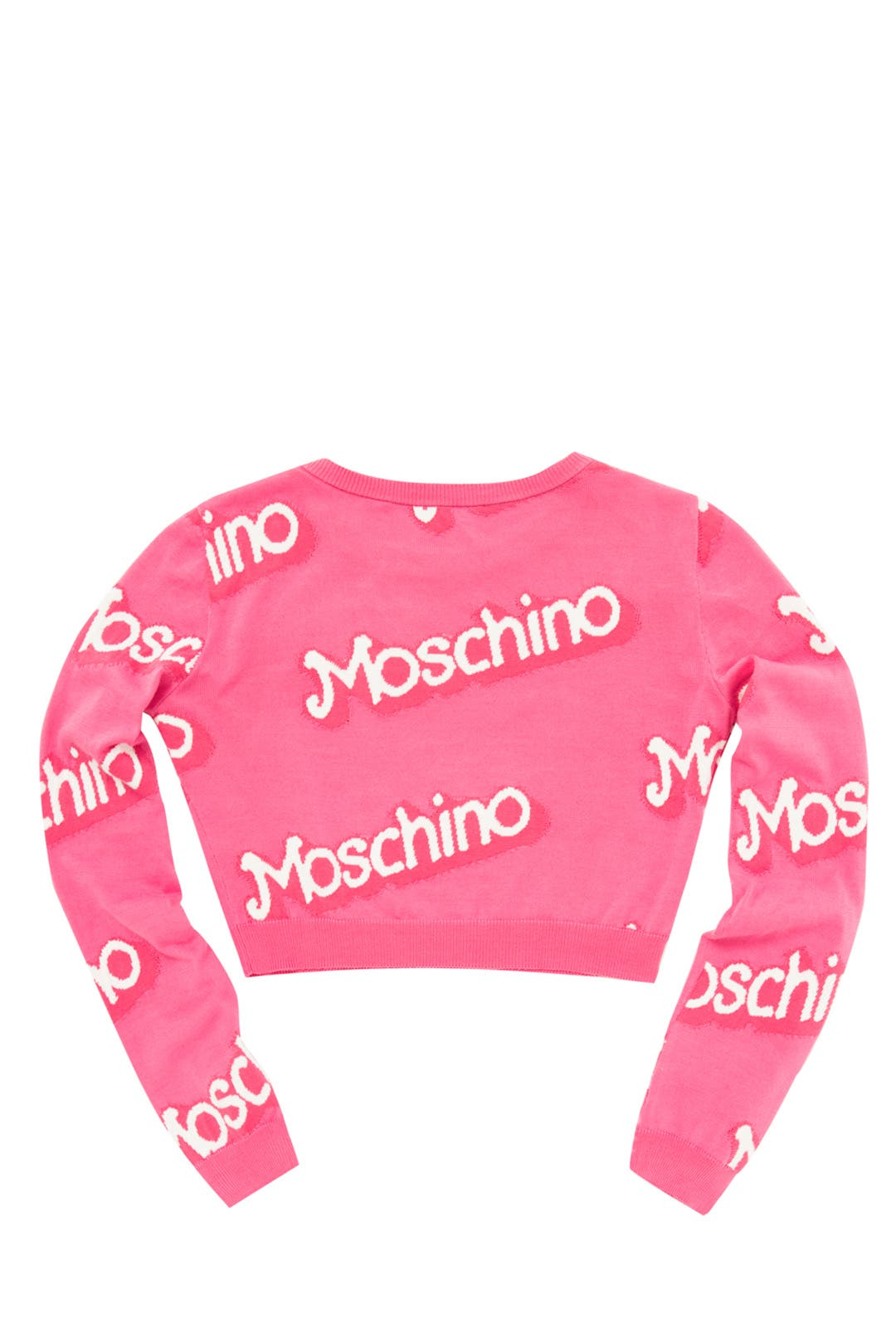 Think Pink Cropped Sweater by Moschino for $104 | Rent the Runway