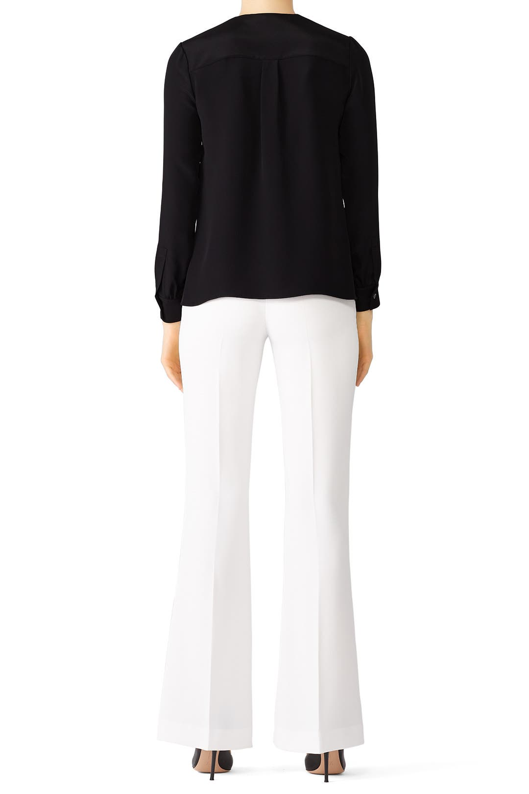 af1c20e1036ce Sara Lace Up Blouse by DEREK LAM for  150