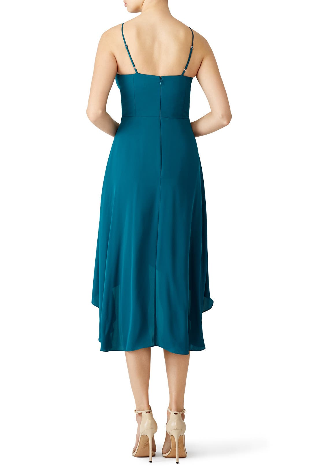 Teal High Low Dress by Amanda Uprichard for $50 | Rent the Runway
