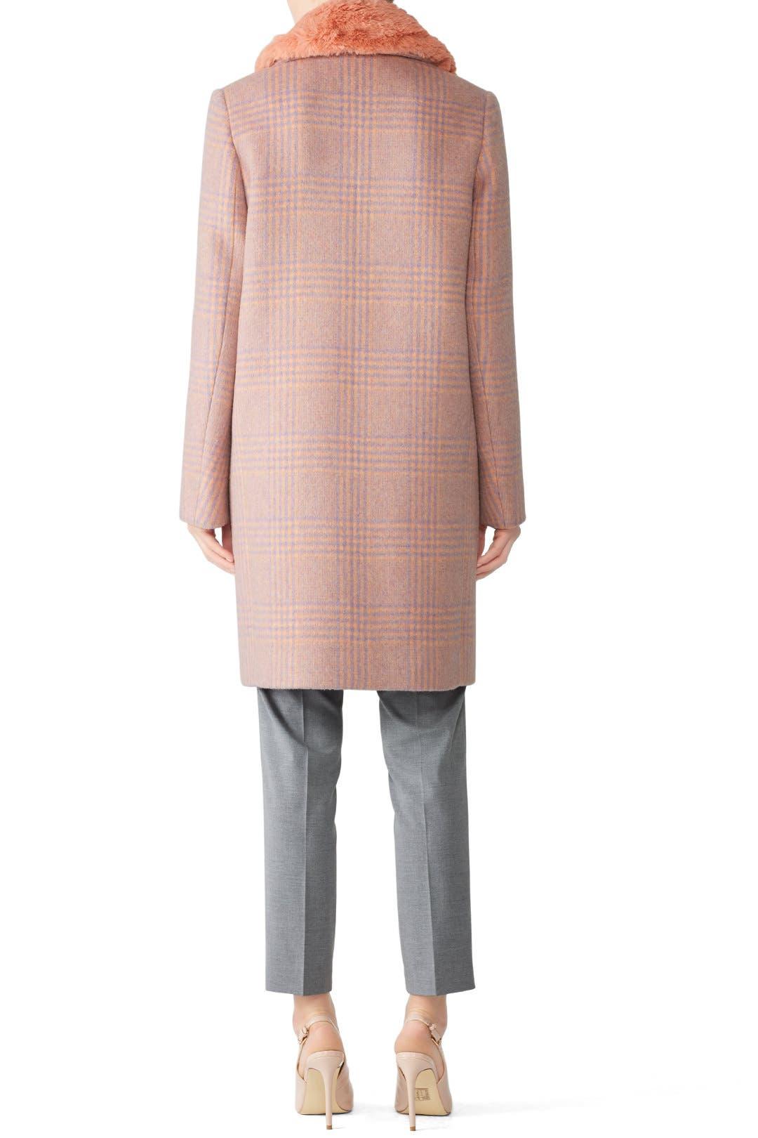 2f2bd53f67 Pink Plaid Coat by Tara Jarmon for  135