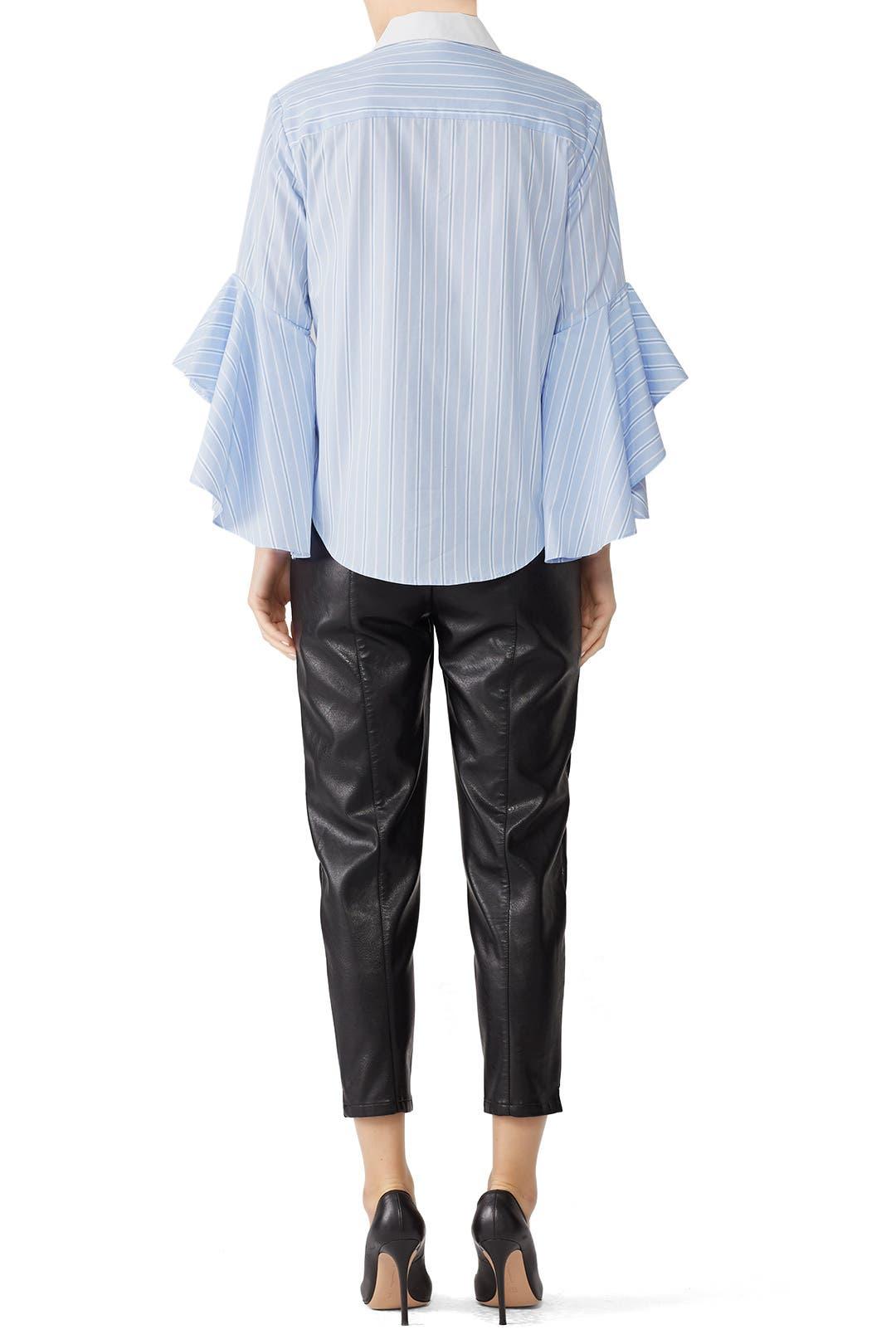 07665498153a95 Stripe Ruffle Sleeve Shirt by Jonathan Simkhai for  65