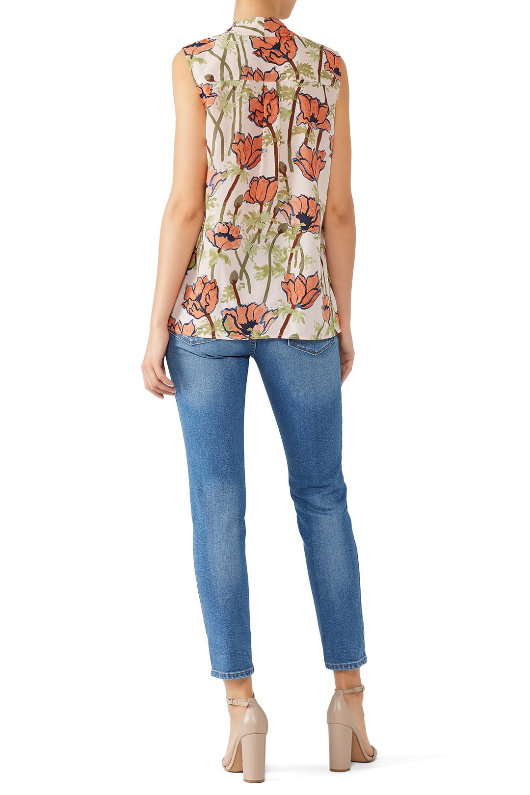 ed3e04c16a0366 Sleeveless Tie Neck Bow Blouse by Tory Burch for  45