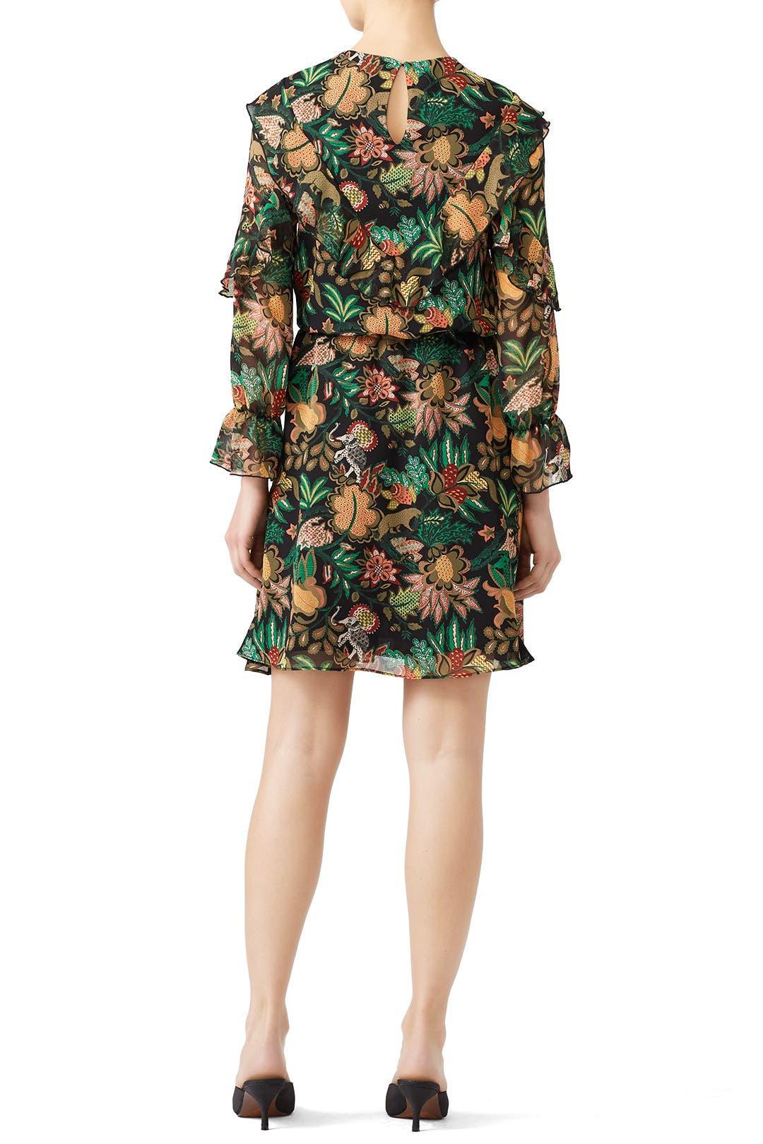 aa86567cde93 Ruffle Jungle Print Dress by Scotch & Soda for $30   Rent the Runway