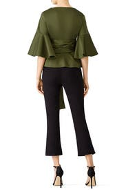Green Kiera Wrap Top by Alexis