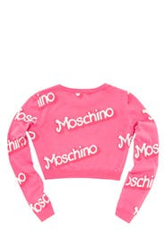 Think Pink Cropped Sweater by Moschino