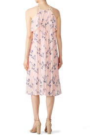 Pink Floral Halter Dress by Shoshanna for $35 - $70   Rent the Runway
