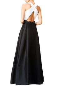 Jadore Contrast Gown by ML Monique Lhuillier