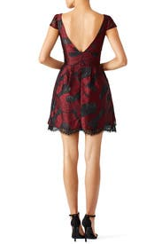 Bordeaux Peeking Lace Dress by ML Monique Lhuillier for $90 | Rent ...