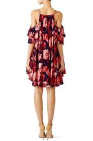 Rose Floral Cold Shoulder Dress by Dina Agam