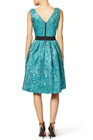 Shimmering Teal Dress by Christian Pellizzari