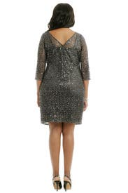 Sequin Rain Sheath by Kay Unger