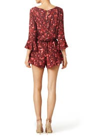 Floral Foliage Romper by Free People
