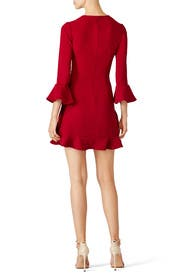 Currant Red Ruffle Bell Dress by Jill Jill Stuart for $45 - $80 ...