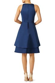 Navy Tulip Skirt Dress by Shoshanna