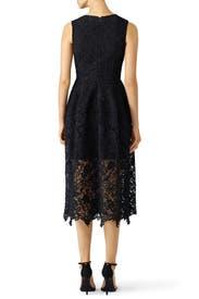 Black Mosaic Lace Ball Dress by Nicholas
