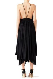 Black Pleated Ruffle Dress by Philosophy di Lorenzo Serafini