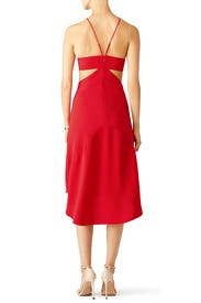 Red Ashley Cut Out Dress by Halston Heritage for $40 - $60 | Rent ...