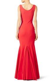 Red Whitney Gown by La Petite Robe di Chiara Boni