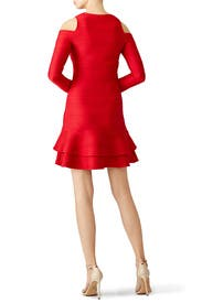 Red Ottoman Jacquard Dress by Shoshanna for $45 - $65  Rent the ...