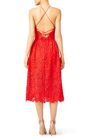 Cherry Red Lace Halter Dress by Cynthia Rowley for $70 - $90 ...