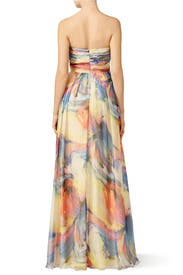 Watercolor Stroke Gown by Slate & Willow