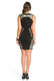 Geometric Metallic Lace Dress by Prabal Gurung