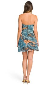 Smokey Floral Ruffle Dress by Tracy Reese