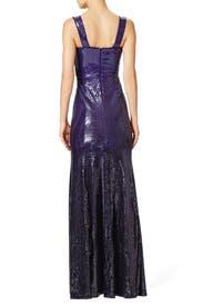 Cross Draped Evening Gown by Donna Karan New York