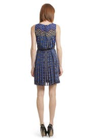 Pleated Print Dress by Tibi