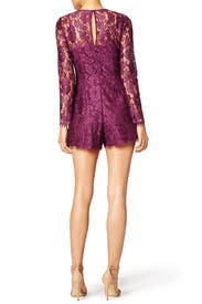 Plum Midnight Lace Romper by Cynthia Rowley
