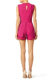 Hot Pink Sail Away Romper by Laundry by Shelli Segal