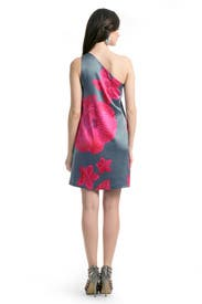Magenta Floral Drape Dress by Halston Heritage
