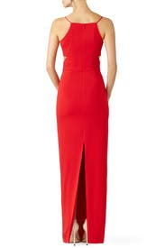 Red Odessa Crossover Gown by Badgley Mischka