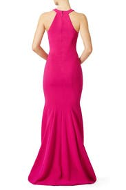 Fuchsia Smooth Mermaid Gown by Theia