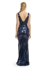 Midnight Sequin Gown by Nicole Miller