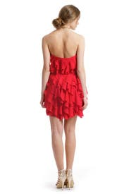 Red Ripple Effect Dress by ADAM