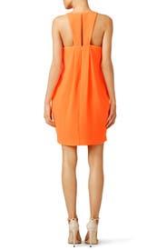 Orange Origami Fold Dress by Trina Turk