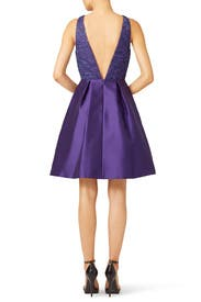 Purple Mikado Dress by ML Monique Lhuillier