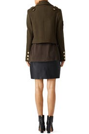 Green Admiral Cropped Peacoat by Tibi