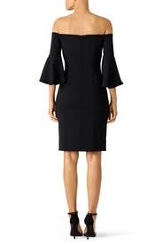 Black Bell Sleeve Cocktail Dress by Laundry by Shelli Segal