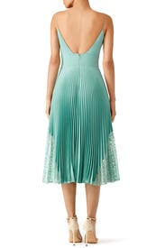 Mint Pleated Sweetheart Dress by Nicole Miller