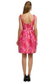 Fuchsia Palm Party Dress by Theia