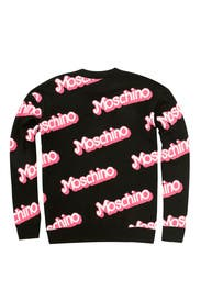 Black Think Pink Sweater by Moschino