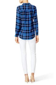 Contrast Plaid Button Down by Equipment