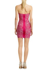 Pink Mod Maze Dress by Hervé Léger