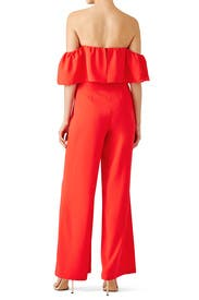 Red Delilah Jumpsuit by Amanda Uprichard