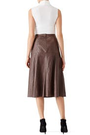 taupe leather skirt by heritage for 120 rent