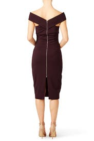 Marsala Be Still Dress by FINDERS KEEPERS