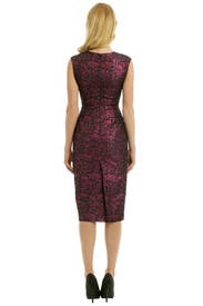 Leather Panel Jacquard Dress by No. 21