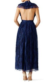 Blue Flamenco Ruffle Halter Gown by Philosophy di Lorenzo Serafini